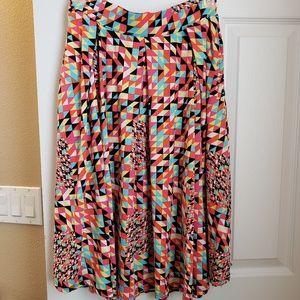 Lularoe Madison multicolor full skirt with pockets
